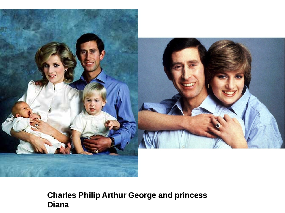 Charles Philip Arthur George and princess Diana