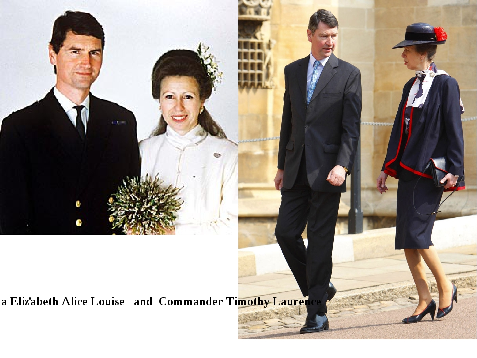 Anna Elizabeth Alice Louise and Commander Timothy Laurence