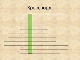 Кроссворд. 1 2 3 4