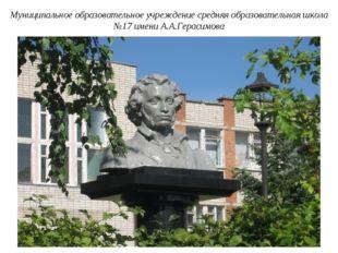 Муниципальное образовательное учреждение средняя образовательная школа №17 им