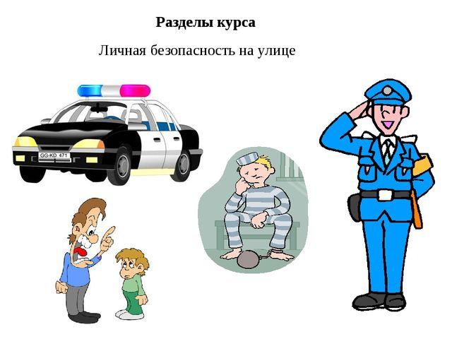 Разделы курса Личная безопасность на улице