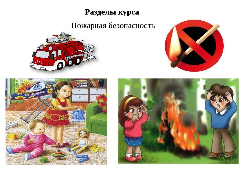 Пожарная безопасность Разделы курса