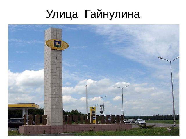 Улица Гайнулина