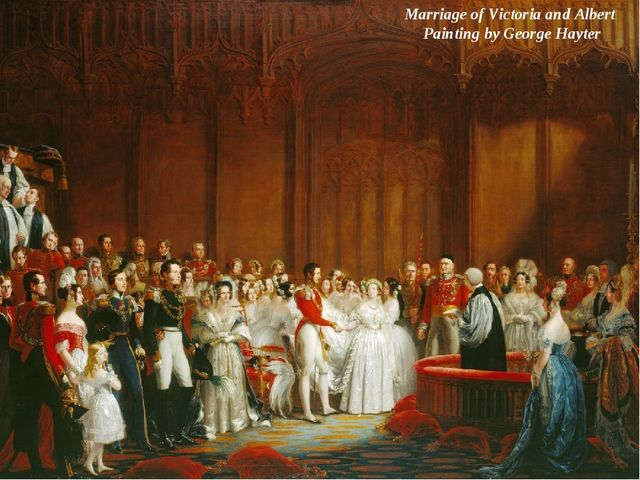 Marriage of Victoria and Albert Painting by George Hayter