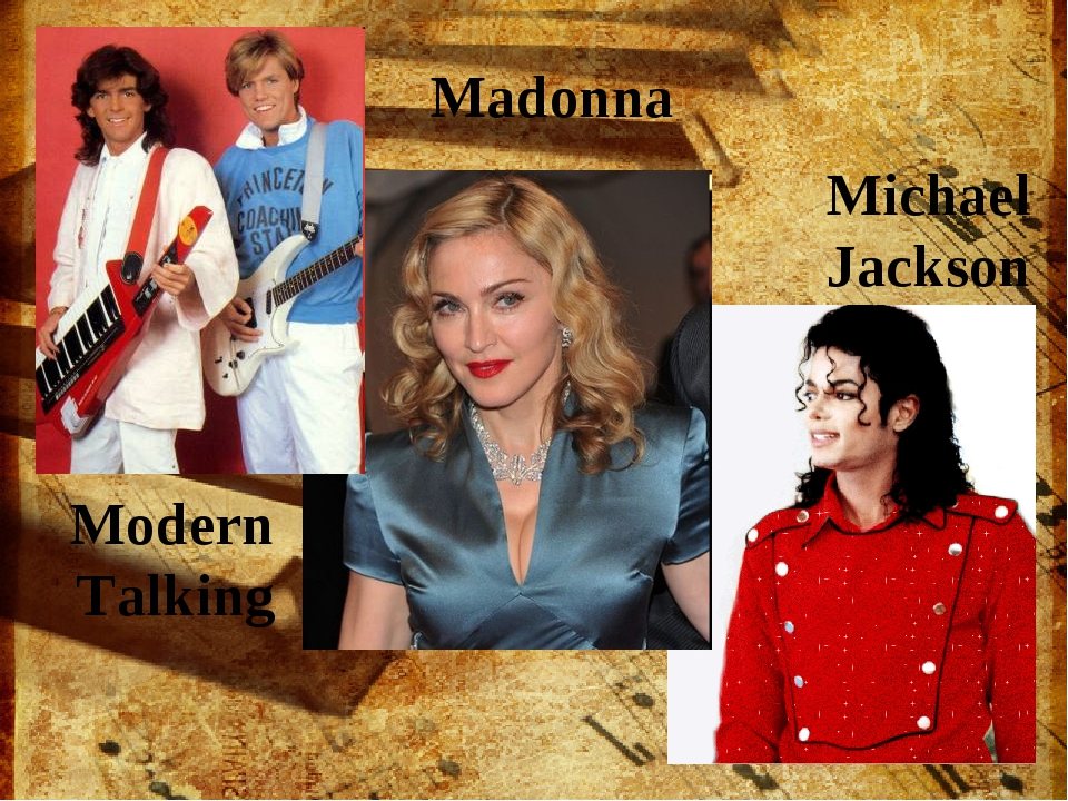 Modern Talking Madonna Michael Jackson