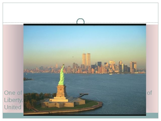 One of the famous symbols of the USA is the Statue of Liberty. It is a gift...