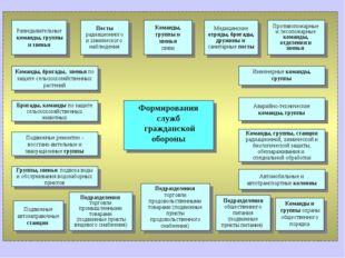Формирования служб гражданской обороны Команды, группы и звенья связи Медицин