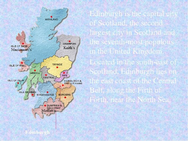 Edinburgh is the capital city of Scotland, the second largest city in Scotlan...