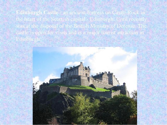 Edinburgh Castle - an ancient fortress on Castle Rock in the heart of the Sco...