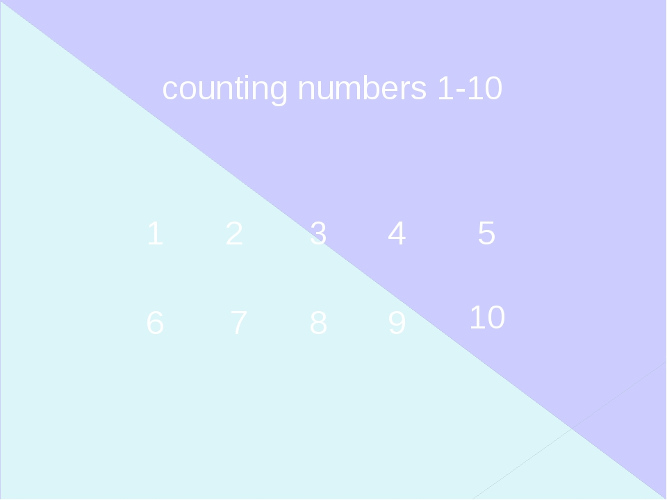 counting numbers 1-10 1 2 3 4 5 6 7 8 9 10