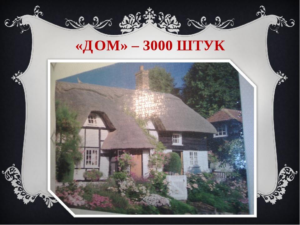«ДОМ» – 3000 ШТУК II-ой Всероссийский интернет - конкурс мультимедийных техно...