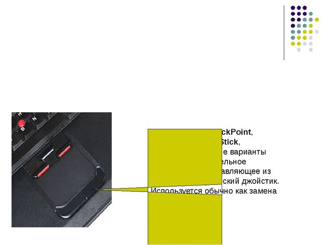 Pointing stick (TrackPoint, PointStick, Track Stick, StickPoint, и другие вар...