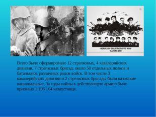 Всего было сформировано 12 стрелковых, 4 кавалерийских дивизии, 7 стрелковых