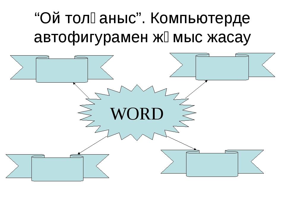 """""""Ой толғаныс"""". Компьютерде автофигурамен жұмыс жасау WORD"""