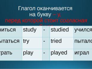 Глагол оканчивается на букву – у, перед которой стоит согласная буква учиться