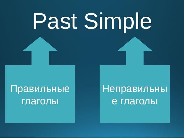 Past Simple Правильные глаголы Неправильные глаголы