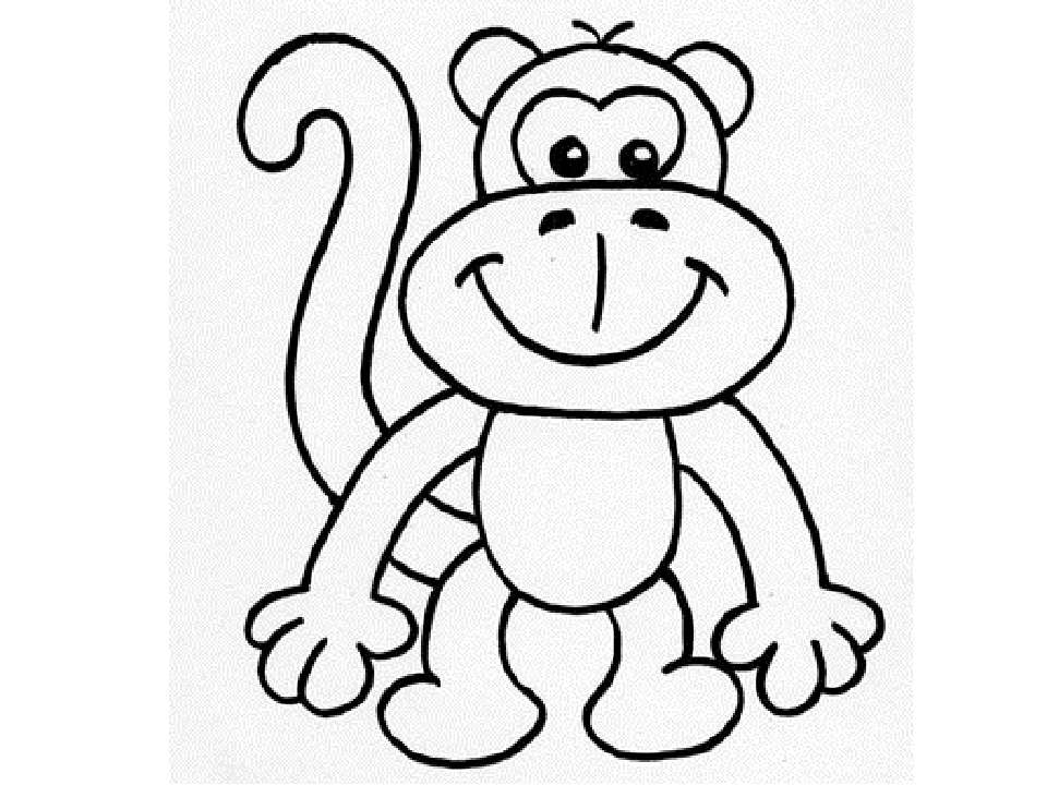 растет картинки обезьянку как нарисовать разбираться, чем так