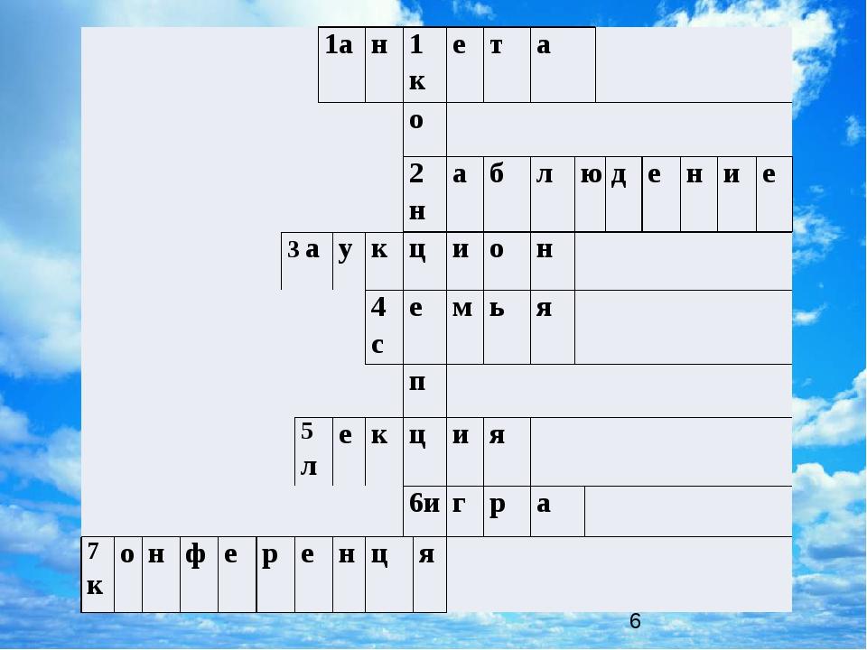1а н 1 к е т а   о   2 н а б л ю д е н и е  3а у к ц и о н   4с е м...