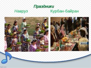 Праздники Навруз Курбан-байран