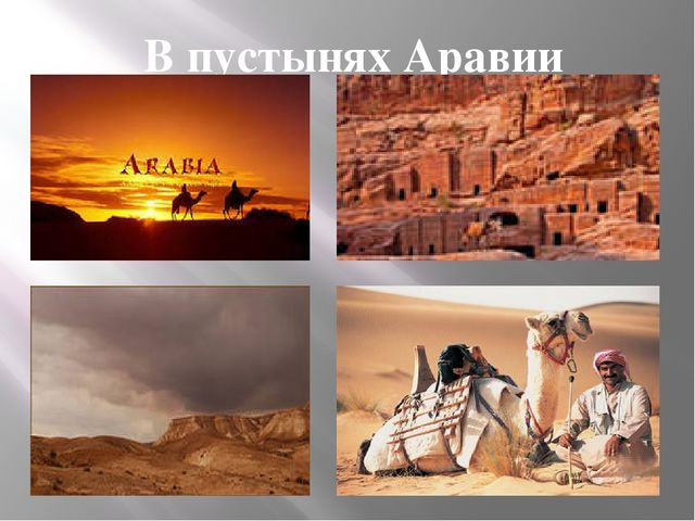 В пустынях Аравии