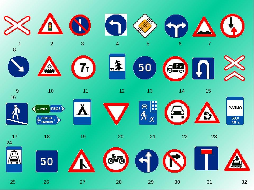 знаки дорожного движения картинки тесты запросу