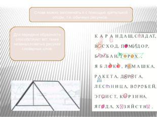 Слова можно запоминать и с помощью зрительной опоры, т.е. обычных рисунков.