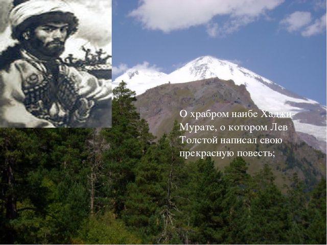 О храбром наибе Хаджи-Мурате, о котором Лев Толстой написал свою прекрасную п...