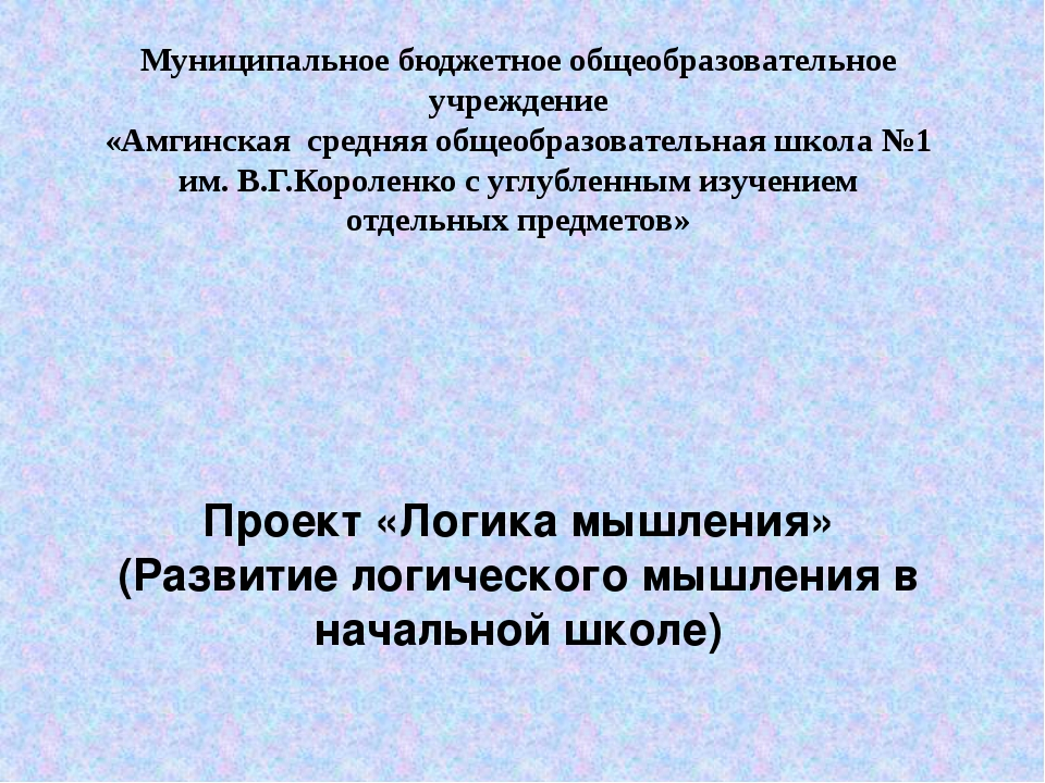Муниципальное бюджетное общеобразовательное учреждение «Амгинская средняя общ...