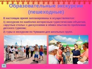 Образовательные экскурсии (пешеходные) В настоящее время запланированы и осущ