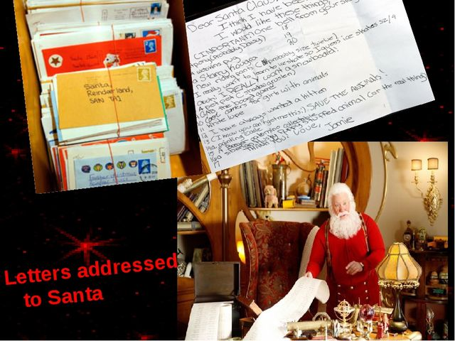 Letters addressed to Santa