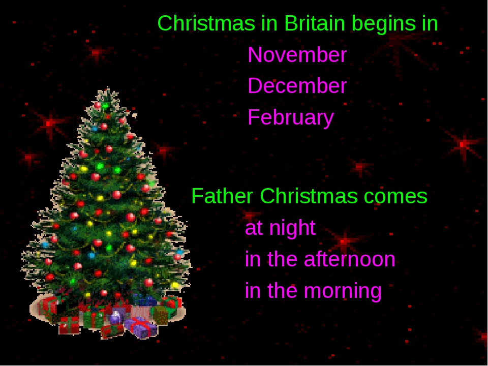 Christmas in Britain begins in November December February Father Christmas c...