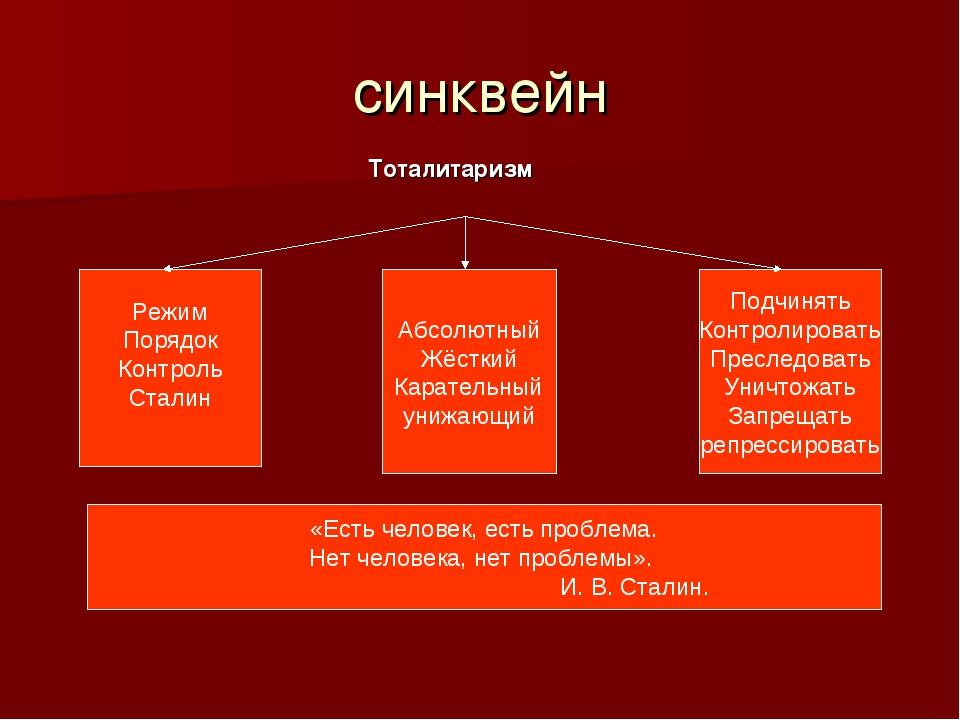 синквейн Режим Порядок Контроль Сталин Абсолютный Жёсткий Карательный унижающ...
