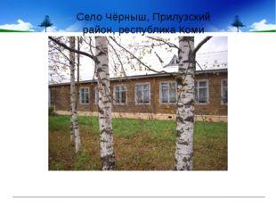 Село Чёрныш, Прилузский район, республика Коми