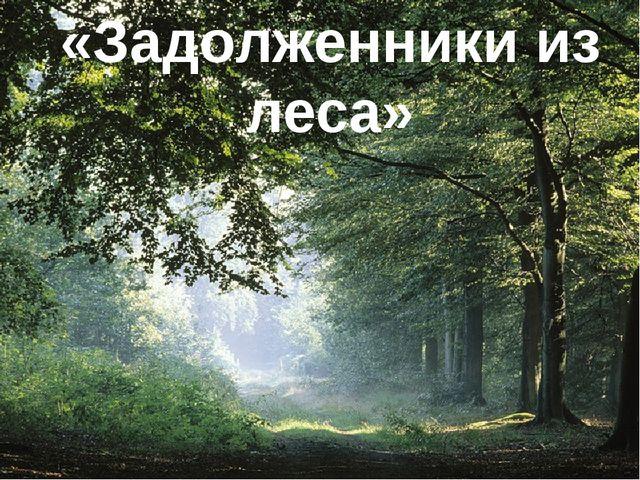 «Задолженники из леса»