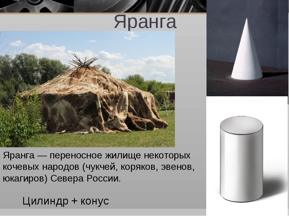 Яранга Яранга — переносное жилище некоторых кочевых народов (чукчей, коряков,...