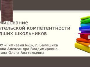 Формирование читательской компетентности младших школьников МБОУ «Гимназия №1