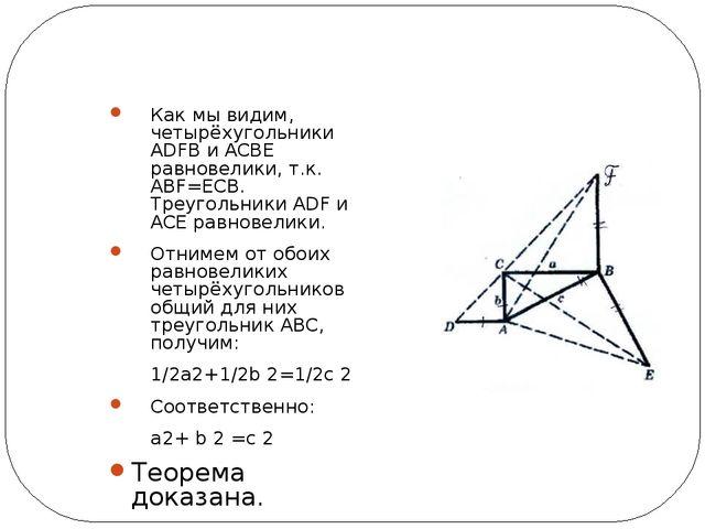 Алгебраическое доказательство (метод Мёльманна) Площадь данного прямоугольни...
