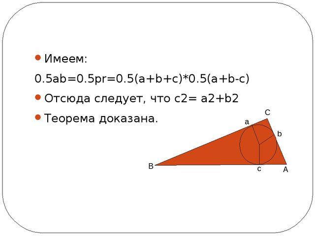 Значение теоремы Пифагора Теорема Пифагорапо праву является одной из основны...