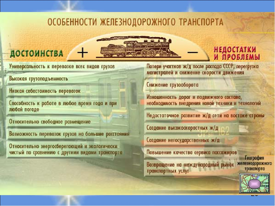 железнодорожного транспорта реферат Реферат Железнодорожный транспорт