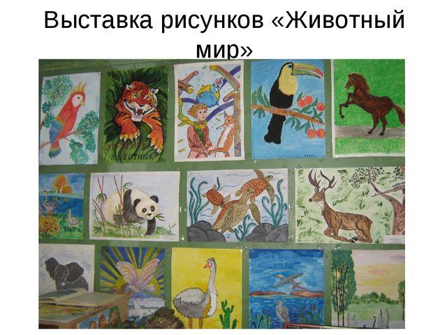 Выставка рисунков «Животный мир»