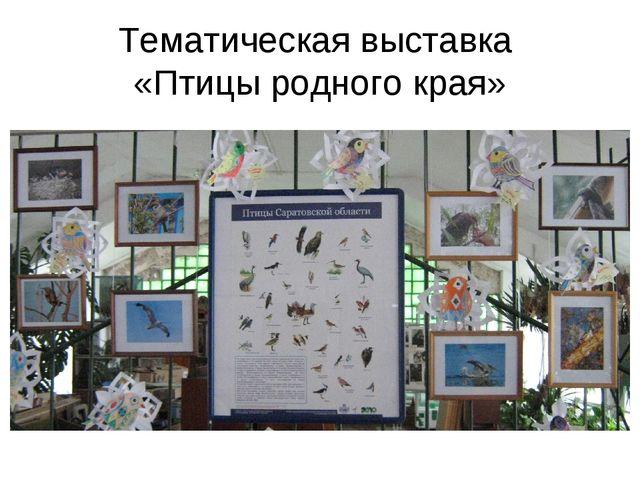 Тематическая выставка «Птицы родного края»
