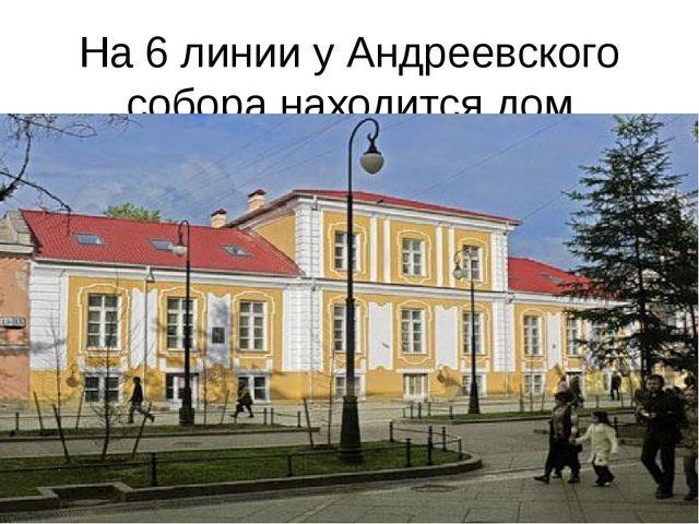 На 6 линии у Андреевского собора находится дом Троекурова.
