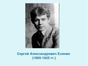 Сергей Александрович Есенин (1895-1925 гг.)