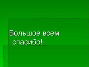 Большое всем спасибо!