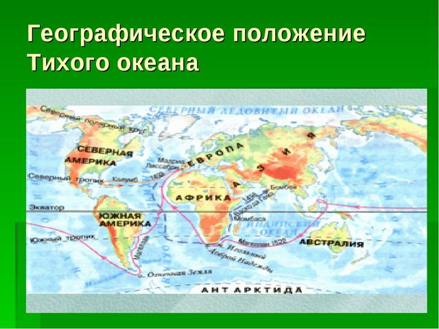 Географическое положение Тихого океана