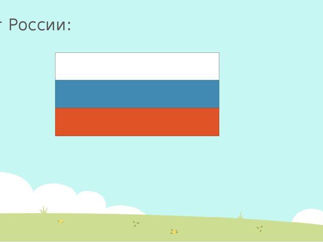 Флаг России: