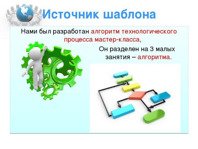 Источник шаблона Нами был разработан алгоритм технологического процесса масте...