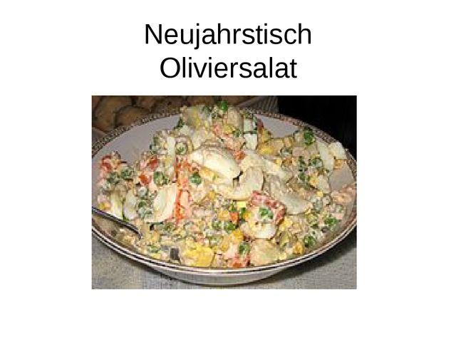 Neujahrstisch Oliviersalat