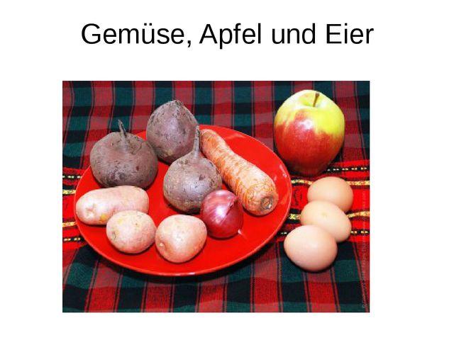 Gemüse, Apfel und Eier