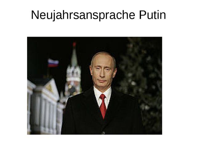 Neujahrsansprache Putin